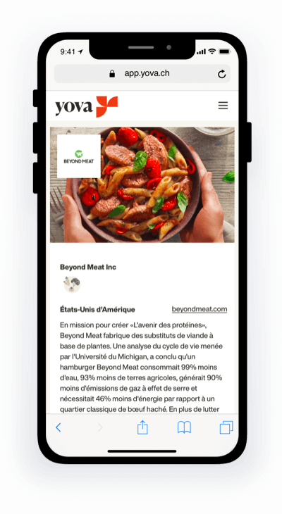 Beyond Meat Phone - FR
