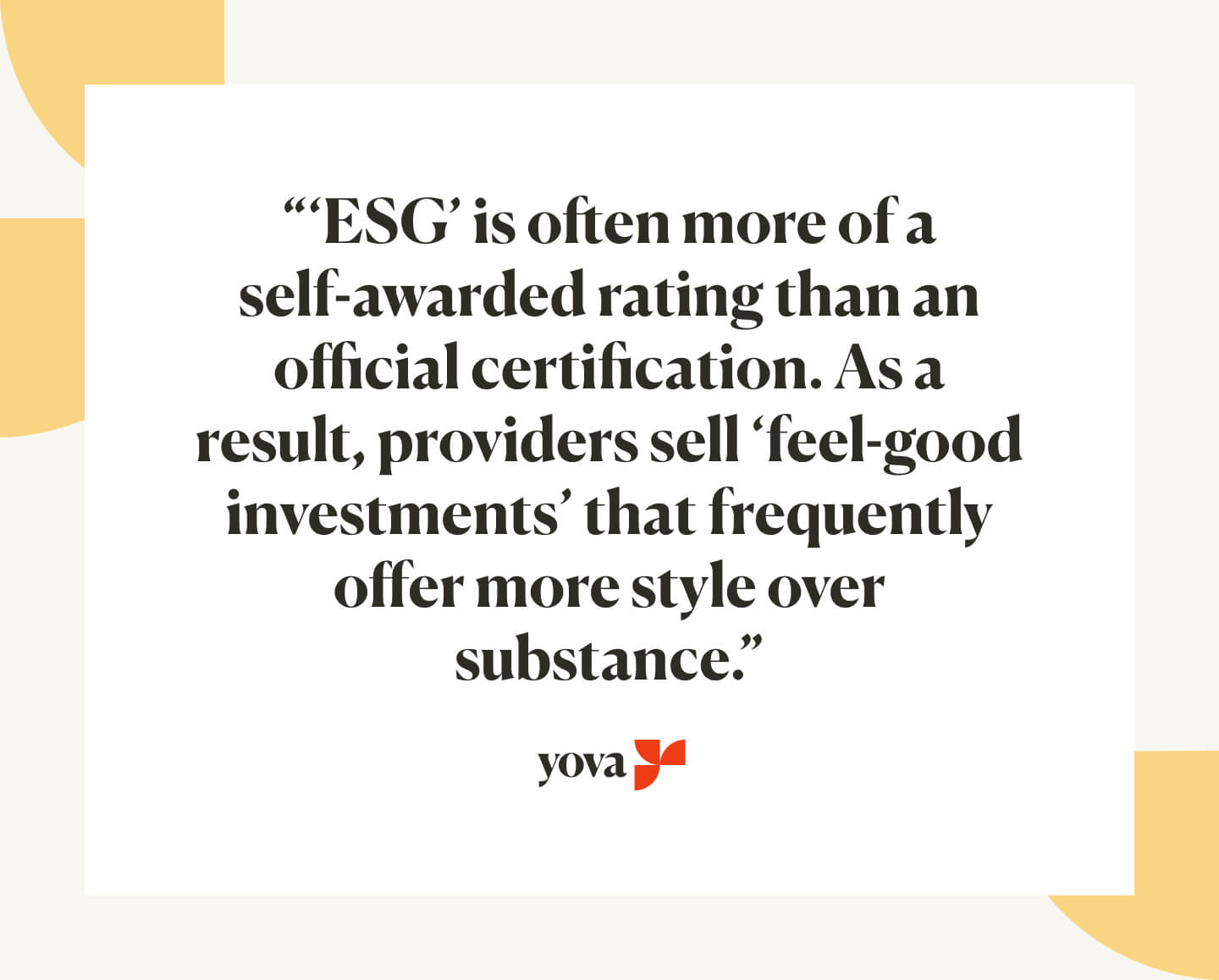What does ESG really mean?