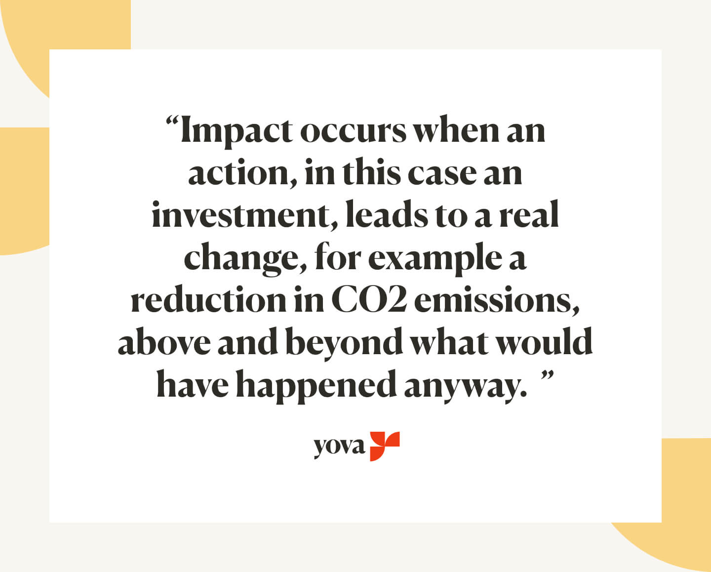 When does an investment have an impact?