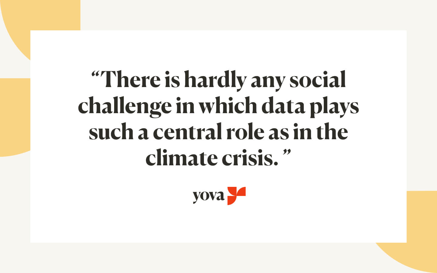 Role of data in the climate crisis