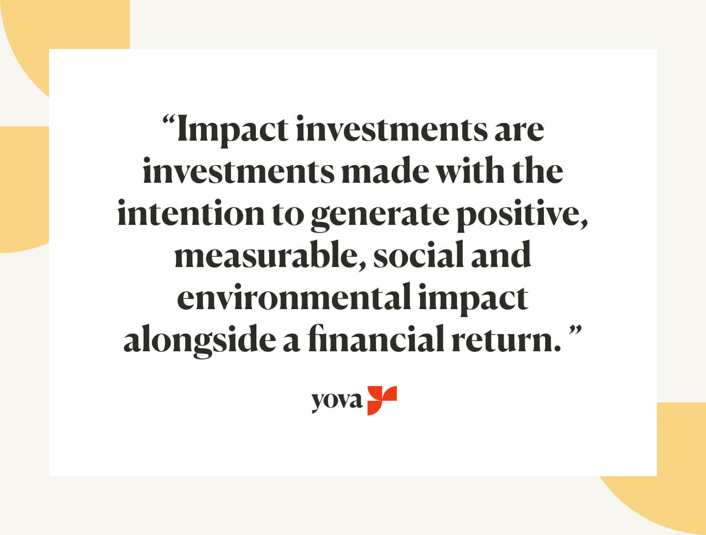 Impact investment definition