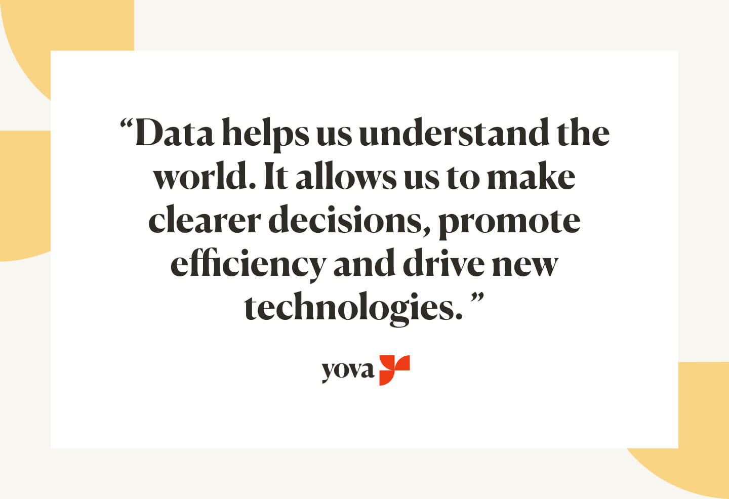 Importance of data to make decisions